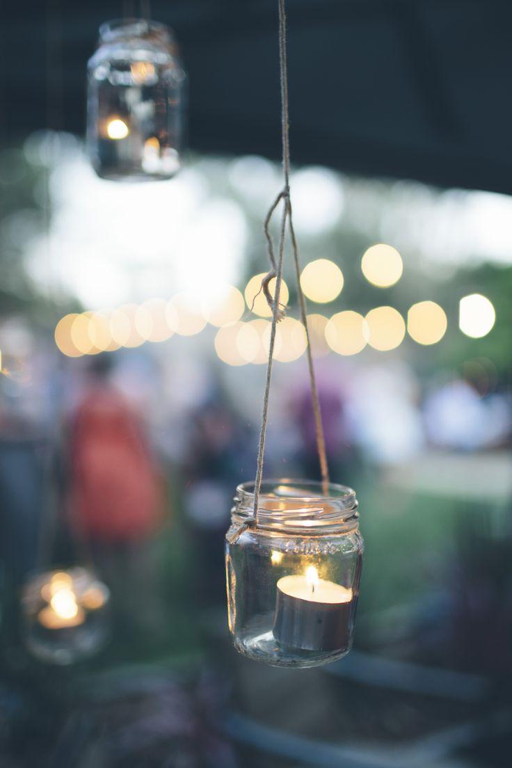 Hanging tealight jars