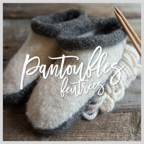 Pantoufles feutrées