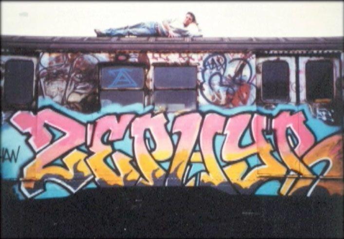 OLD SCHOOL. Um pouco do início do graffiti dos anos 80 ... ZEPHRY NYC SUBWAY