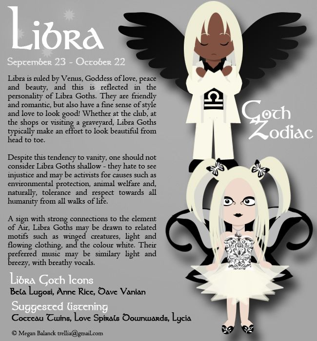 Goth Zodiac: Libra by Trellia.deviantart.com on @DeviantArt