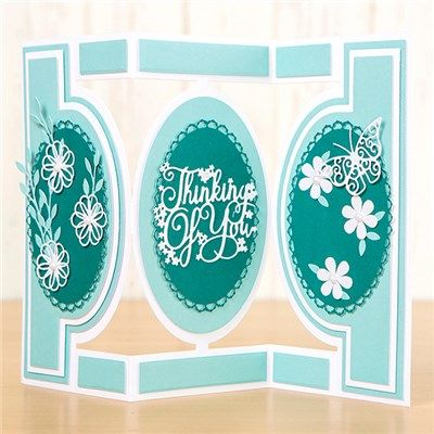 Tattered Lace Essential Oval Shutter Card Die