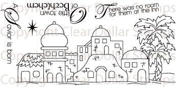 cute cardboard cutout idea for a Bethlehem city