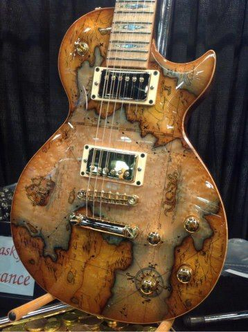 Played around the world? Map guitar.