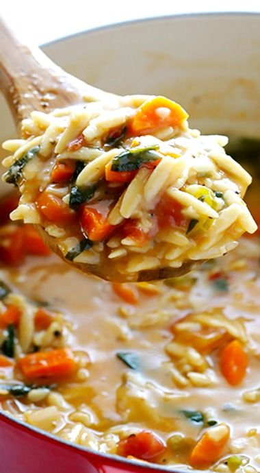 Italian Orzo Spinach Soup - Sounds ah-mazing!