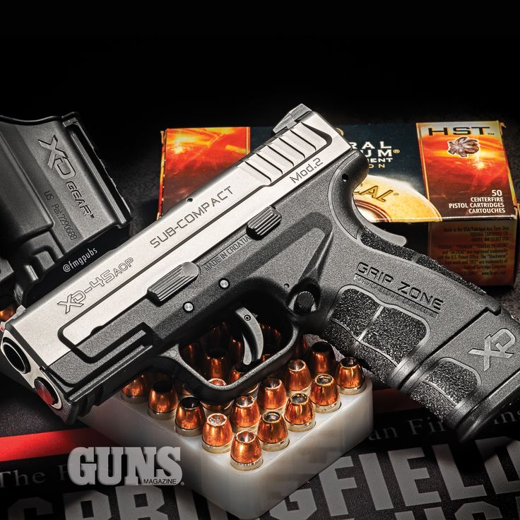 Zone Defense: Springfield's Sub-Compact XD Mod 2 | Click to read article: http://gunsmagazine.com/zone-defense/ | #springfieldarmory #xdmod #pistol
