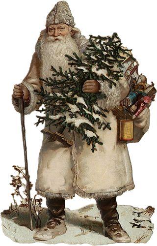 Glanzbilder - Victorian Die Cut - Victorian Scrap - Tube Victorienne - Glansbilleder - Plaatjes : Nikolaus II - santa claus II - pere noel II