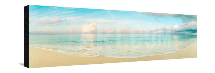 Waves on the Beach, Seven Mile Beach, Grand Cayman, Cayman Islands Photographic Print by Panoramic Images at Art.com