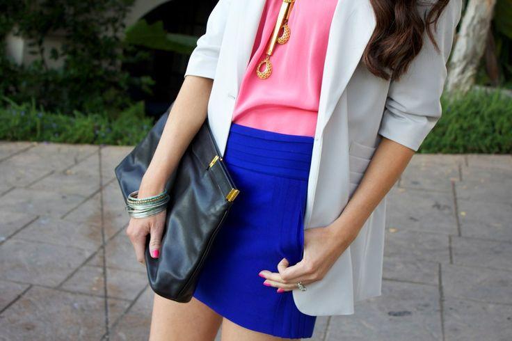 good color combo: Colors Combos, Colorblock, Outfit, Colors Combinations, Royals Blue, Colors Schemes, Colors Blue, Colors Blocks, Bright Colors