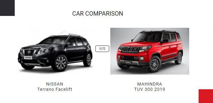 Compare Nissan Terrano Facelift Vs Mahindra Tuv 300 2019 Price