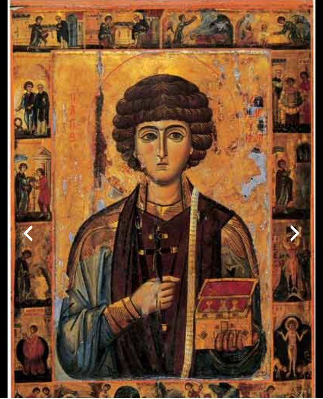 An icon of san Pantaleon, patron saint of Ravello.