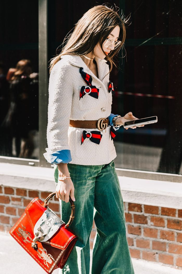e0a134f8f Check out the Gucci belt outfits fashion girls have been concocting as of  late. Fresh inspiration for the iconic accessory is right this way.