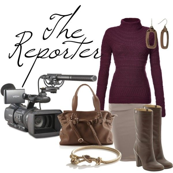 """Career Fashion- The Reporter"" by skybluchik89 on Polyvore"