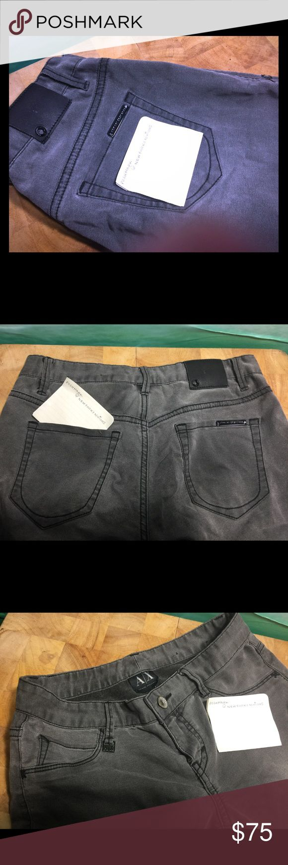 Armani Exchange Grey Jeans Worn once. Has a light stretch like a Jegging. Skinny legging. Good for daily outfits. Size 0 A/X Armani Exchange Jeans Skinny