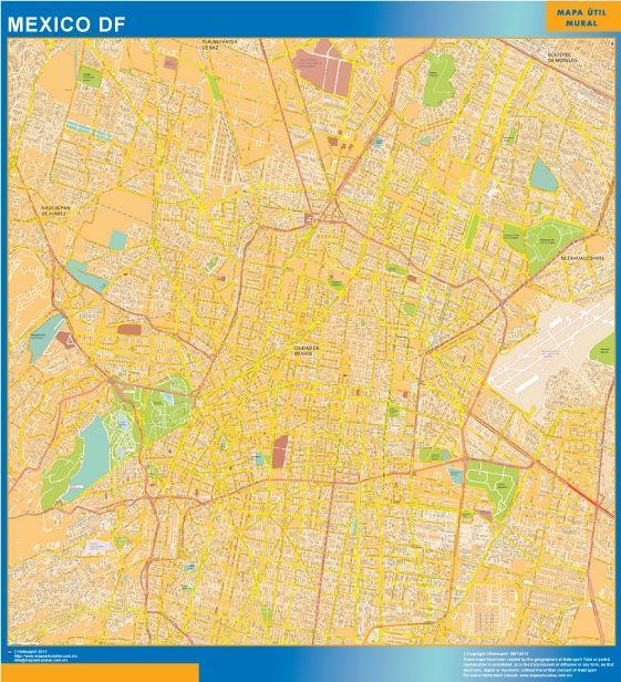 Mapa Mural Mexico DF - Tienda Mapas Mexico