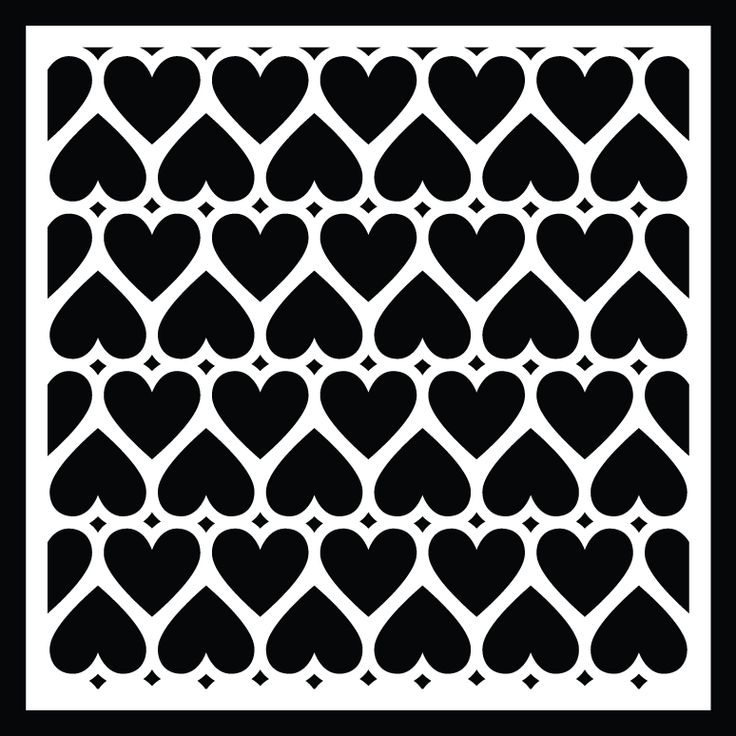 Free Heart Background cut file Silhouette