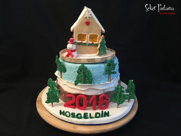Kurabiye Ev ile Yeniyıl Pasta