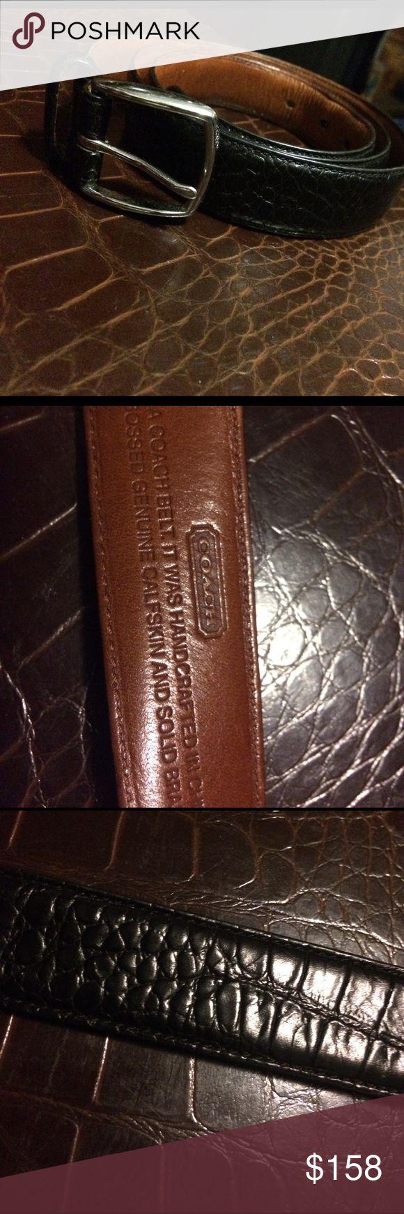 Authentic coach belt Authentic coach alligator black belt Coach Accessories Belts
