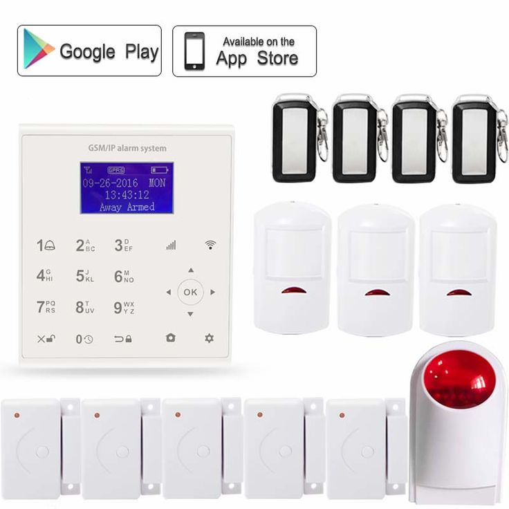 2.4G WIFI GSM GPRS SMS Wireless  smart home anti-burglar security door alarm system Android/IOS APP control