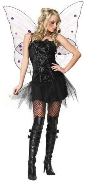 Sexy Velvet Dark Fairy Costume
