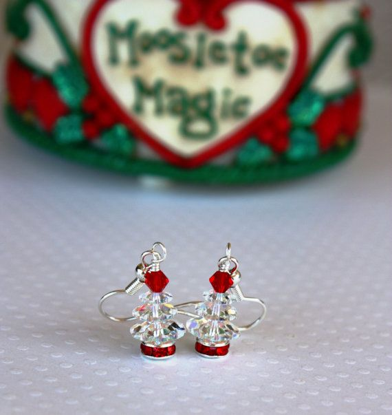 Christmas Tree Earrings Christmas Jewelry Christmas by DRaeDesigns, $13.00