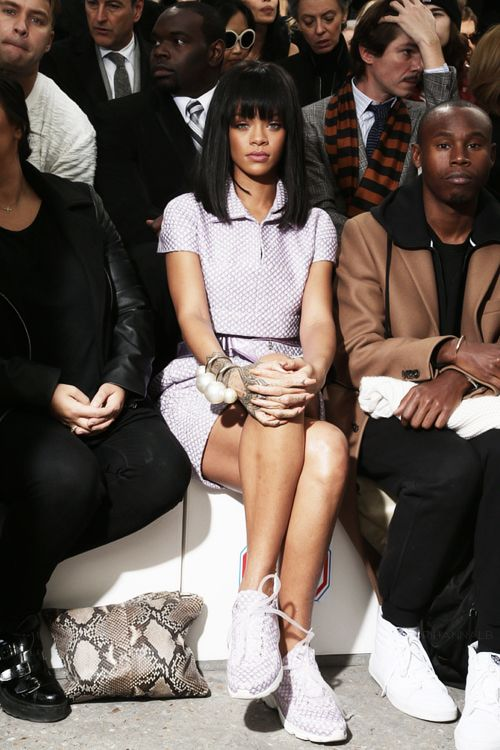 """Rihanna at """"Chanel"""" Fashion Show in Paris via http://rihannalb.tumblr.com/post/78563206519/rihanna-at-chanel-fashion-show-in-paris"""