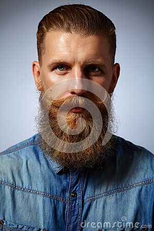 Bearded Man. Handsome Man With A Beard And Twirled Mustache. - Download From Over 50 Million High Quality Stock Photos, Images, Vectors. Sign up for FREE today. Image: 59673496