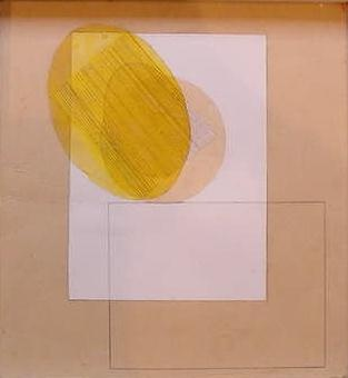 Margaret Mellis - Construction With Yellow Oval - 1940