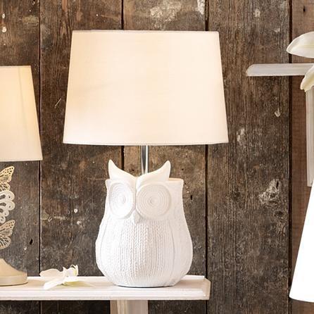 Owl Woven Textured Table Lamp - Dunelm Mill