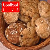 Flavoured bread, could be curry, tomato & cheese, or paprika, herbs