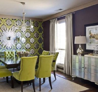 1000 Images About Dining Room Wall Paper On Pinterest