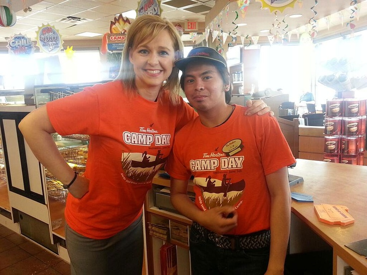 For Tim Horton's Camp Day, our Stacey Brotzel did her part