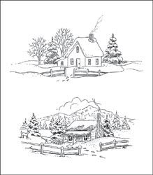 HEARTFELT CREATIONS-Cling Rubber Stamp Sets. High-quality red rubber stamps with beautiful designs for your paper crafts.Coordinates with HCD 708 Decorative Window Scene Die.