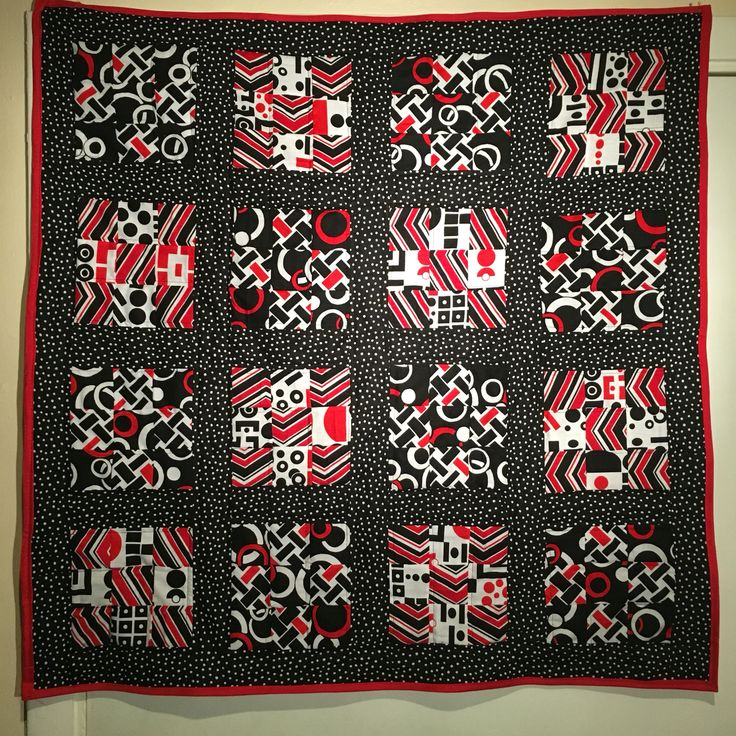 Baby Quilt With Fat Quarters Geometric Patterns Quilting