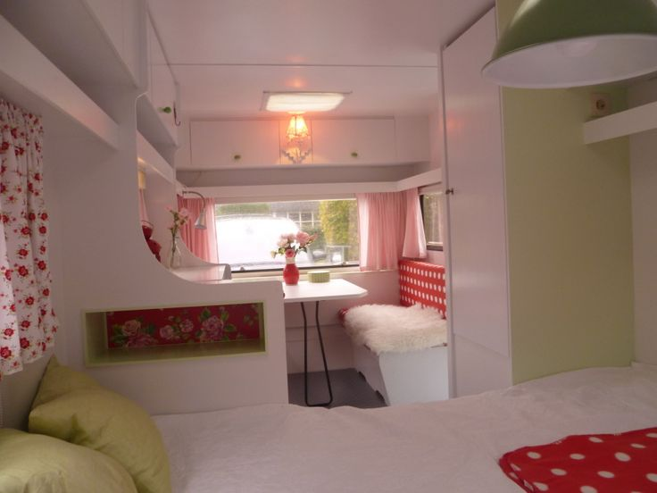 Delicious little camper interior.