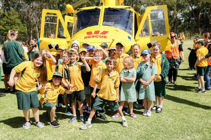 Thanks for having us Garden Suburb Public School, it was such a sunny day when we landed on your oval!