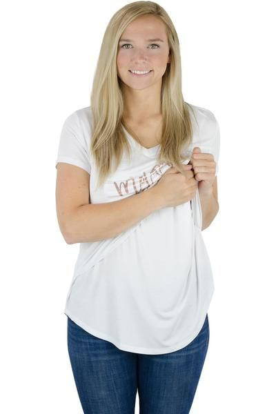 aa50bb732ab5c The Latched Mama Nursing Boyfriend Tee with a little extra fun. The same as  our