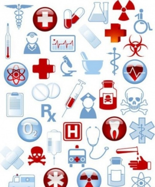 Collection of 40 medical icons