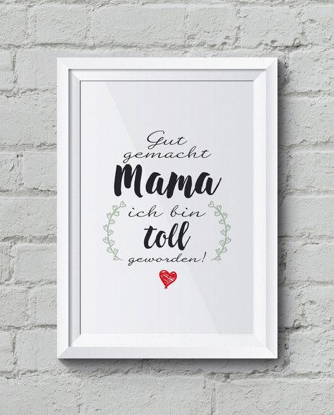 """Digitaldruck - """"Mama"""" Kunstdruck, Familienposter - ein Designerstück von Vivaclair bei DaWanda"""