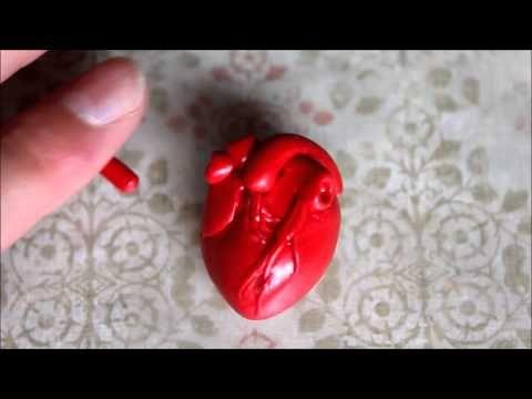 ♥ Анатомическое сердце ♥ Полимерная глина ♥ Anatomical Heart Polymer Clay - YouTube