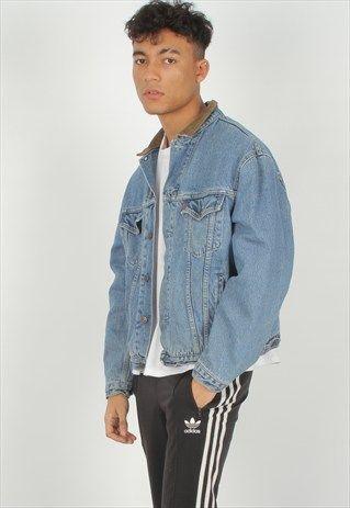 Vintage+Levis+Pattern+Lined+Denim+Jacket