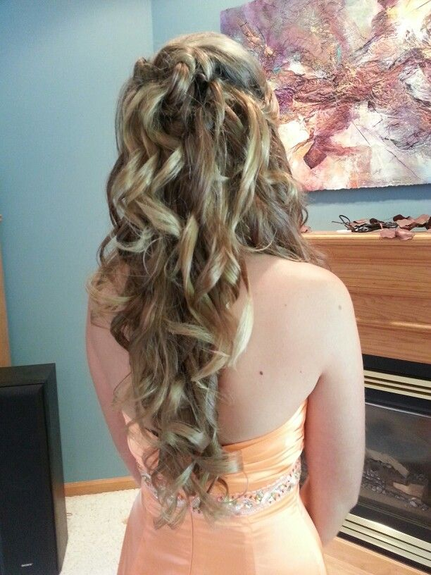 Prom Hair. Half up half down curly updo | top hairstyles ...