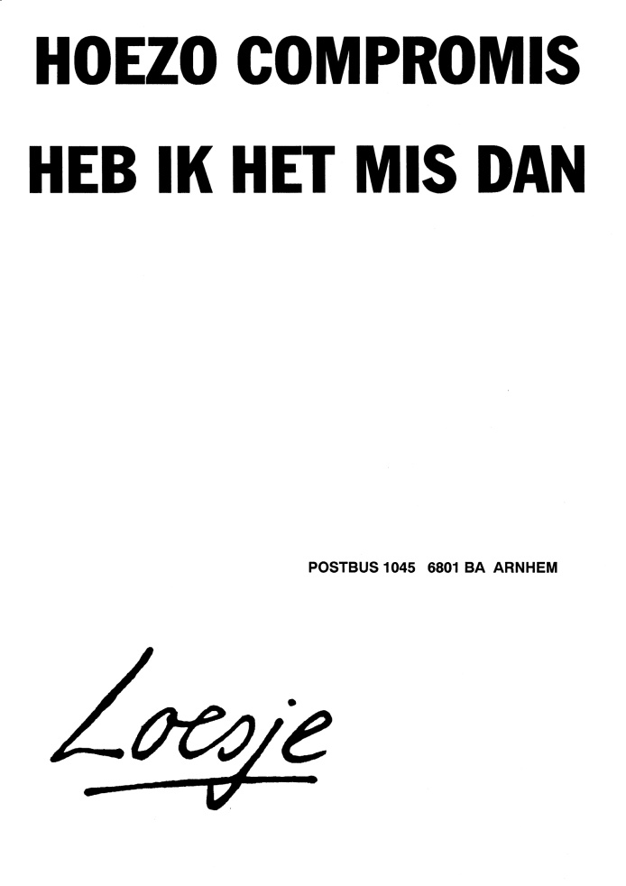 Compromis, by Loesje