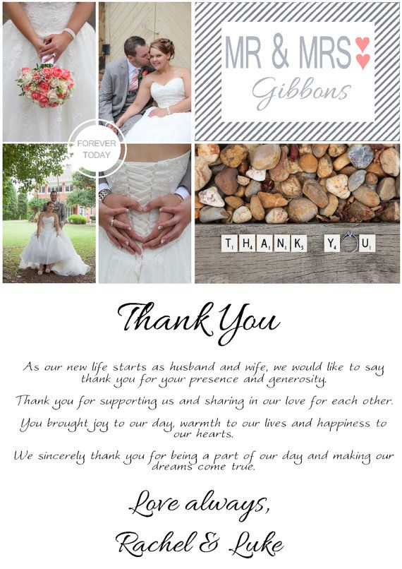 Personal Wedding Thank you card photo by TypographicallySpeak