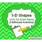 In this write the room activity, students will have the opportunity to work with shapes in three different ways:  1. Cards with Shape Names - For t...