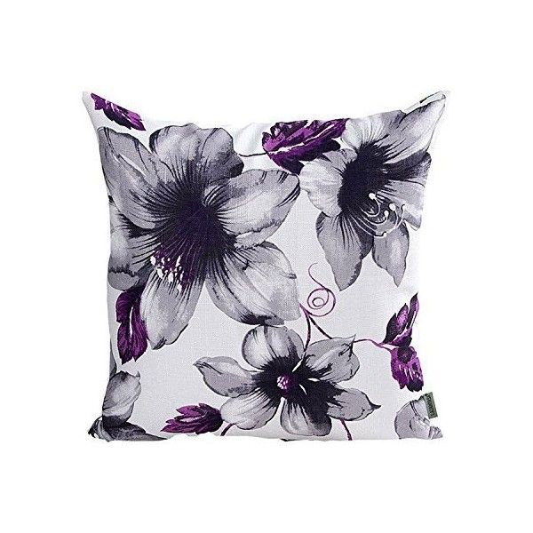 LAZAMYASA Printed Rose Cover Pillows Case Soft Throw Pillow... ❤ liked on Polyvore featuring home, bed & bath, bedding, bed sheets, square pillow case, purple rose bedding, purple pillow cases, rose bedding and purple bed linen