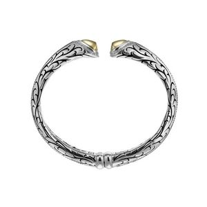 Scott Kay Cypress Sterling Silver & Yellow Gold Bangle Bracelet B1637TPADXSM