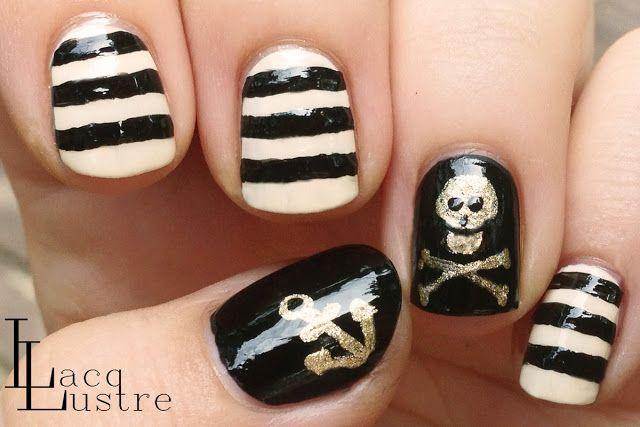 Pirate Nail Art My Teens Love it