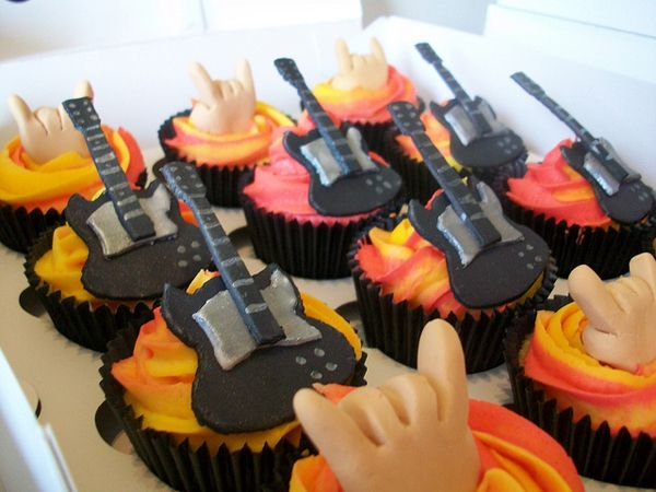 Rock on with these great cupcakes from Bostin Bakes