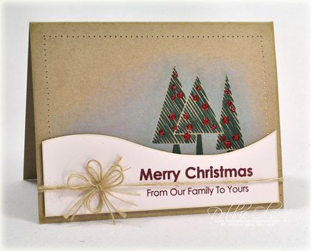 From Our Family Card By Debbie Olson For Papertrey Ink