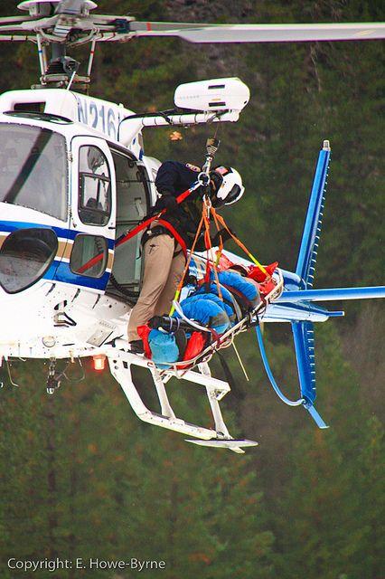 California Highway Patrol rescue in Yosemite